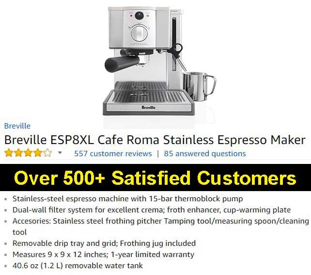 Breville Esp8xl Cafe Roma Espresso Maker Review