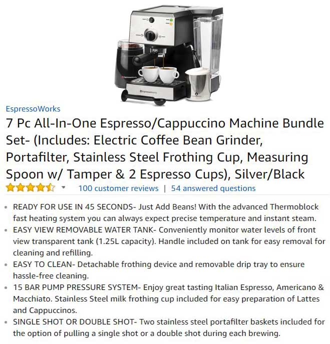 EspressoWorks The Best All In One Espresso Maker System Ranked