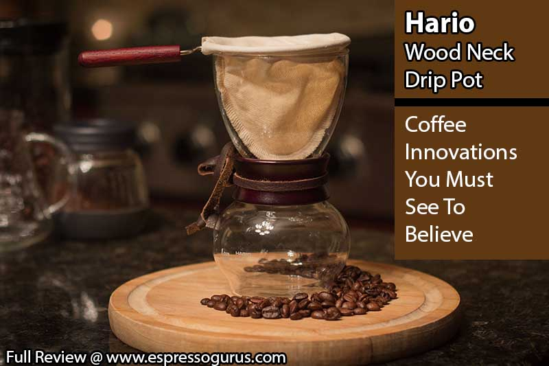 Coffee Innovations - Hario Wood Neck Drip Pot - Coffee Maker - Expert Review