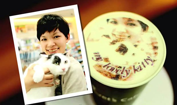 Coffee Innovations - Innovative coffee ideas in Taiwan - Print your picture on coffee drinks