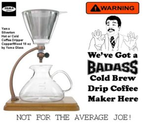 Cool Coffee Maker Yama Silverton Drip Coffee Maker