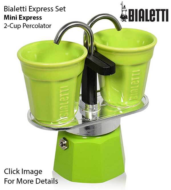 Cool Gift Ideas For Coffee Lovers - Bialetti Express Set Mini Express 2 Cup Percolator