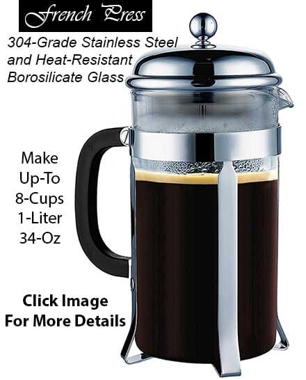 Cool Gift Ideas for Coffee Lovers - French Press