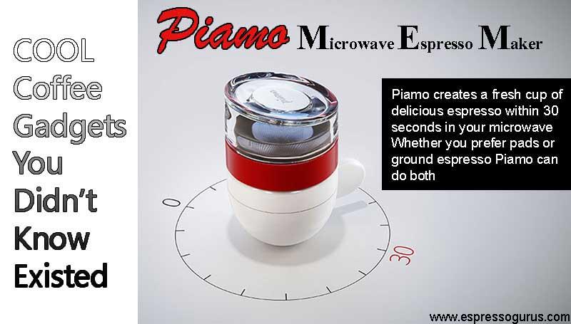Crazy Cool Coffee Gadgets - Piamo Microwave Espresso Maker