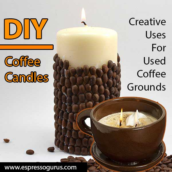 Creative Uses For Used Coffee Grounds - DIY Coffee Candles