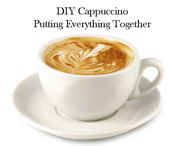 DIY making cappuccino