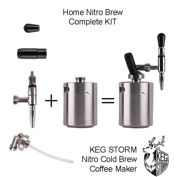 KEG STORM Nitro Cold Brew Coffee Maker Diagram