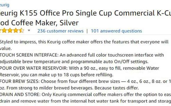 Keurig K155 Office Pro Customer Reviews