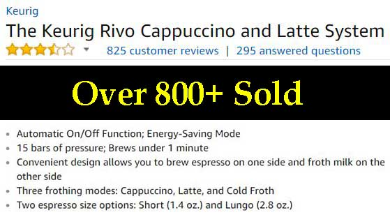 Keurig Rivo Details and Specs