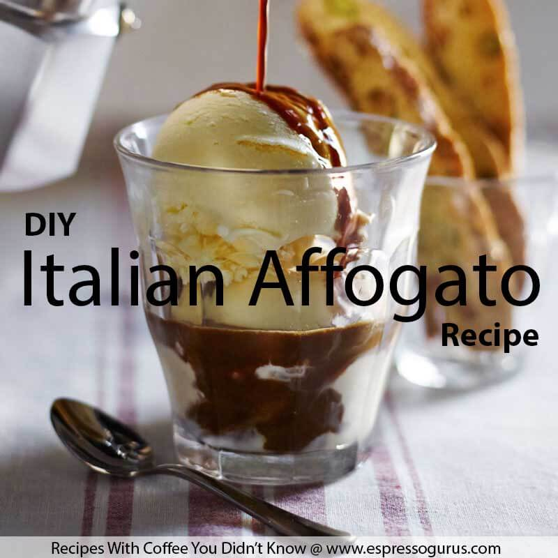 Recipes with coffee - Italian affogato recipe
