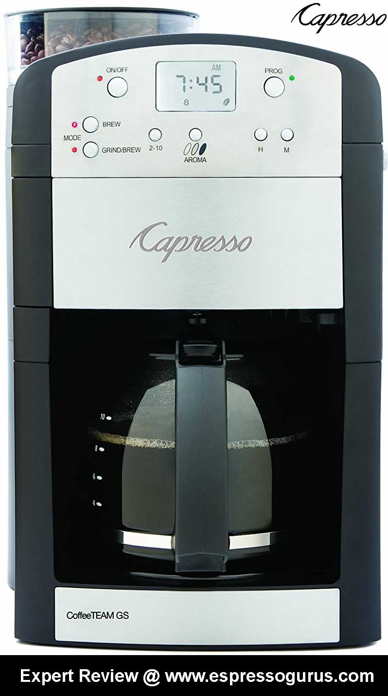 Capresso 464.05 CoffeeTeam GS Grind & Brew Coffee Maker Expert Review