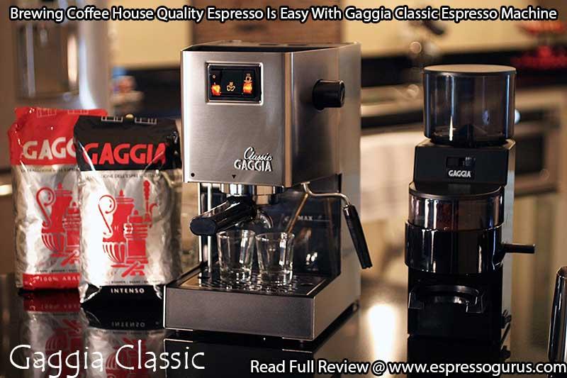 how to clean gaggia classic espresso machine