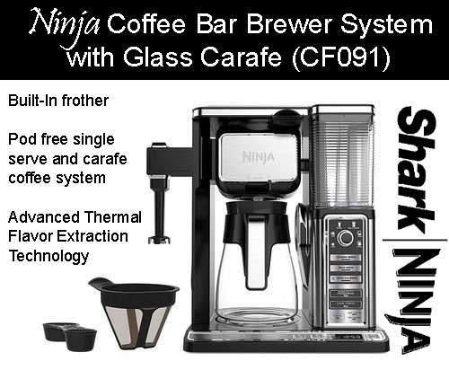Ninja Coffee Bar Brewer System With Gl Carafe Cf091 Features Specs