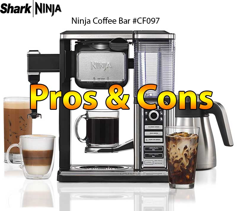 Ninja Coffee Bar Brewer System With Stainless Steel Carafe CF097 Review - Pros and Cons