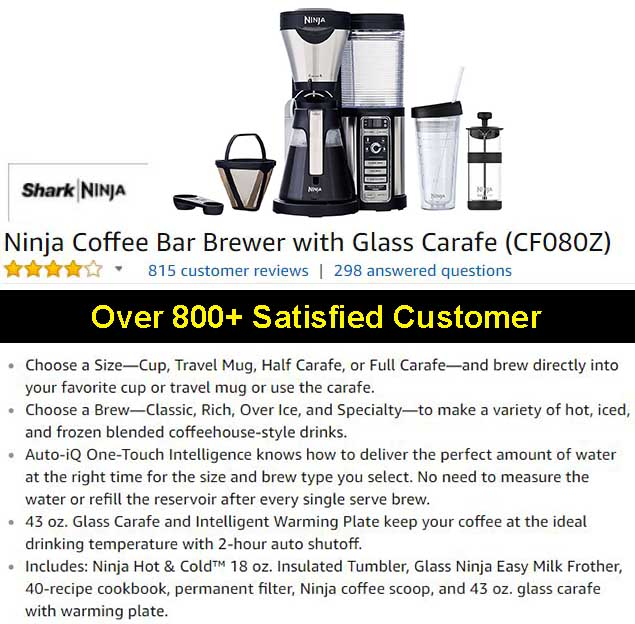 Ninja Coffee Bar Brewer With Glass Carafe CF080Z Review