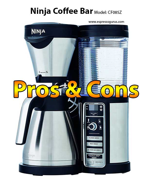 Ninja Coffee Bar Brewer With Thermal Carafe CF085Z Pros & Cons