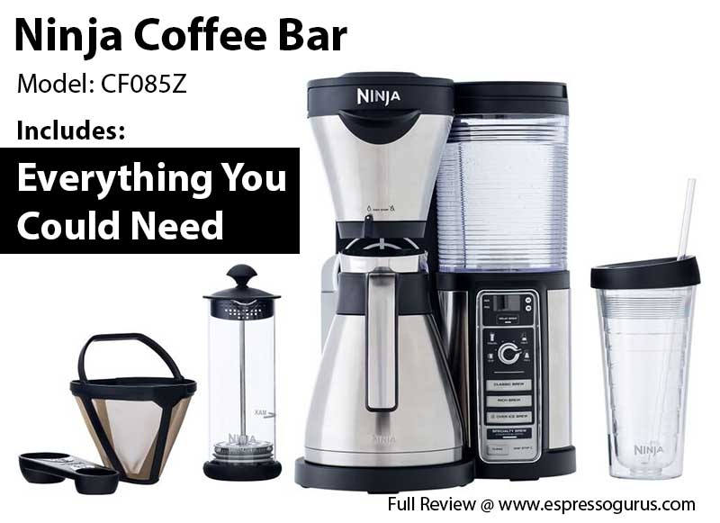 Ninja Coffee Bar Brewer with Thermal Carafe CF085Z Full Review