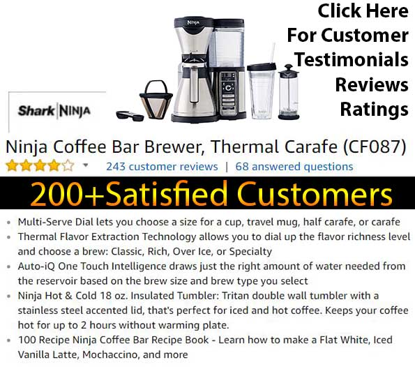Ninja Coffee Bar Review - Ninja Coffee Bar Customer ratings reviews and testimonials