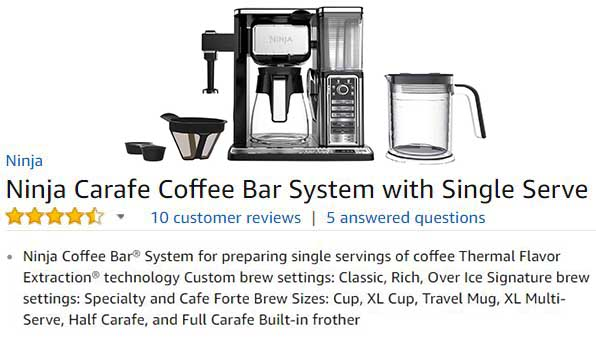 Ninja Coffee Bar System CF090A Customer Ratings & Reviews