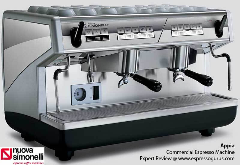 Nuova Simonelli Appia Expert Review - Specs - Price - Features - Commercial espresso machine
