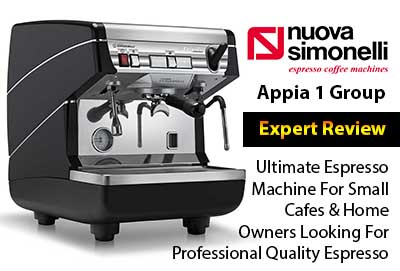 Nuova Simonelli Appia Semi-Auto 1 Group Espresso Machine Review
