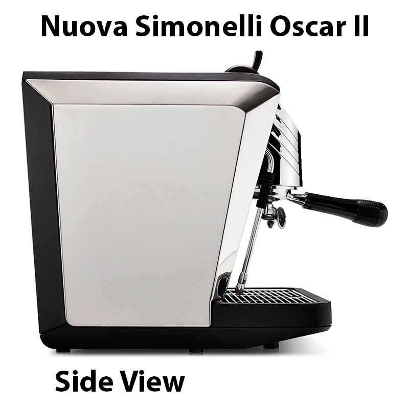 Nuova Simonelli Oscar II Espresso Machine Expert Review - Side View - Features - Specs