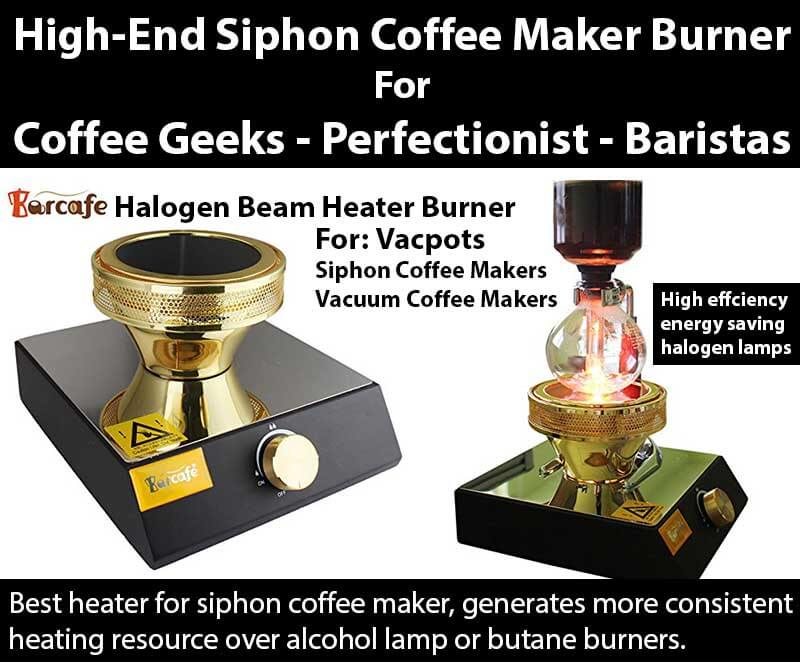 Barcafe Halogen Beam Heater Burner For Siphon Coffee Makers, Vacuum Coffee Makers, Best Heater For Siphon Coffee Makers