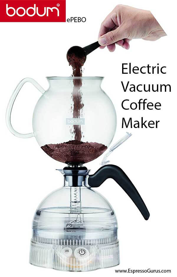 bodum ePEBO electric vacuum coffee machine