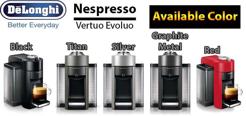 Nespresso Vertuo Evoluo Coffee & Espresso Machine Review - Colors Available