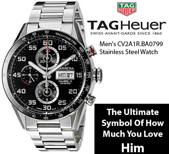The Best Gift For Men - The Ultimate Symbol of how much you love him. Get him this watch and watch your man change into something dreams are made of.