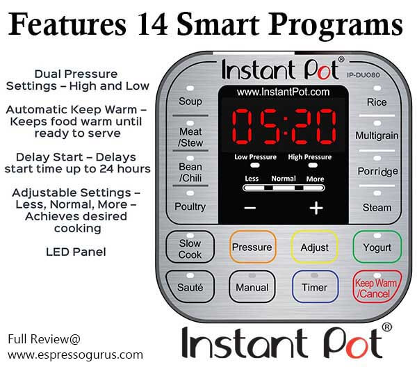 Instant Pot Features and Specs - Instant Pot In-depth Review