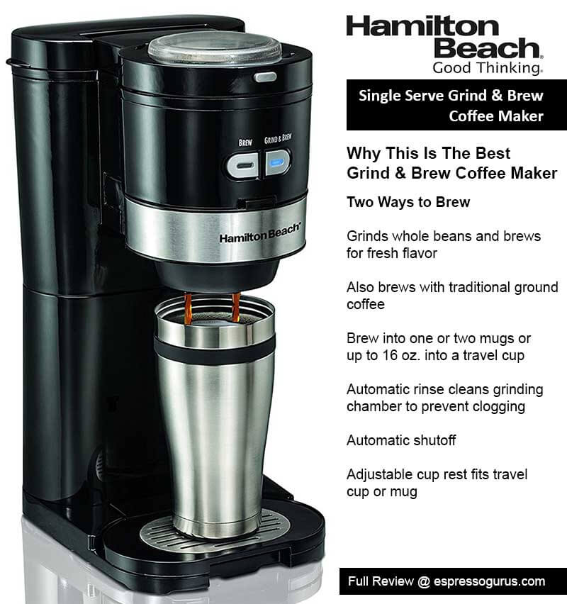 hamilton beach best grind and brew coffee maker ranked Dorm Size Coffee Maker