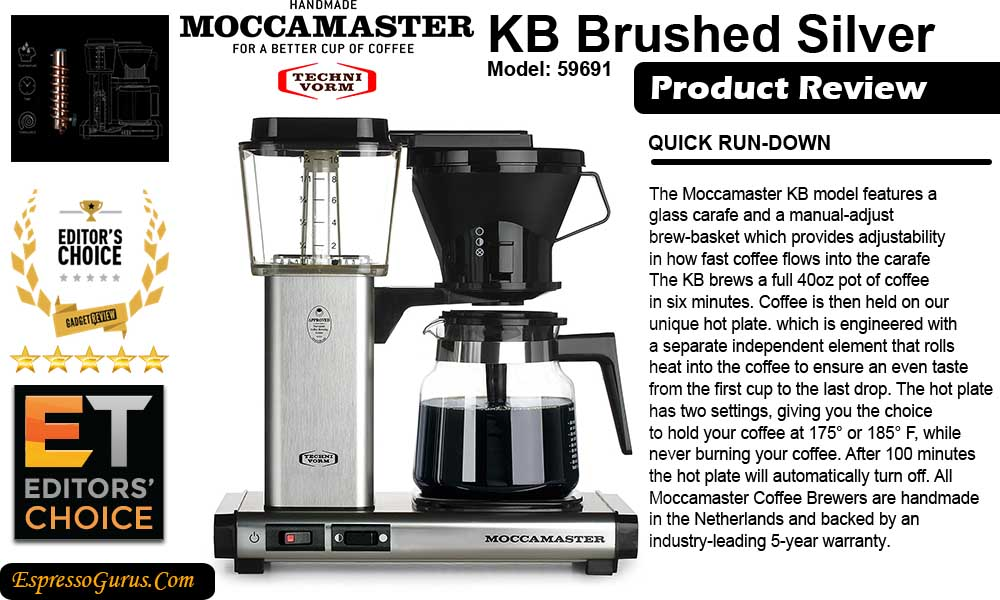 Technivorm Moccamaster Coffee Maker Buyers Guide Tested