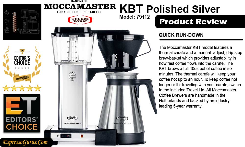 Technivorm Moccamaster KBT Review Technivorm Moccamaster Coffee Maker With Glass Carafe